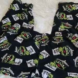 Oscar the Grouch pajama bottoms